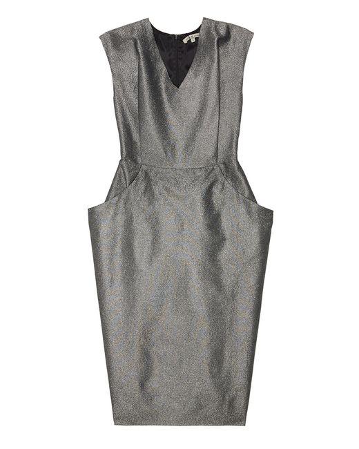 Однотонное Платье VIKTORIA IRBAIEVA                                                                                                              серый цвет