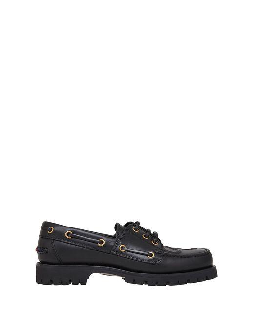 Кожаные Лоферы Gucci                                                                                                              чёрный цвет