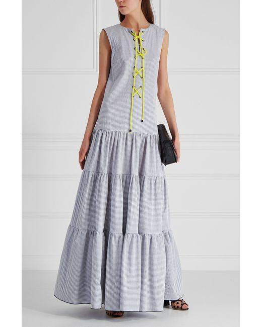 Хлопковое Платье VIKTORIA IRBAIEVA                                                                                                              серый цвет