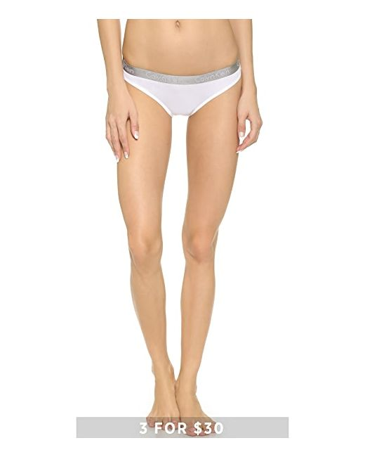 Трусики-Бикини Radiant Из Хлопка Calvin Klein                                                                                                              белый цвет