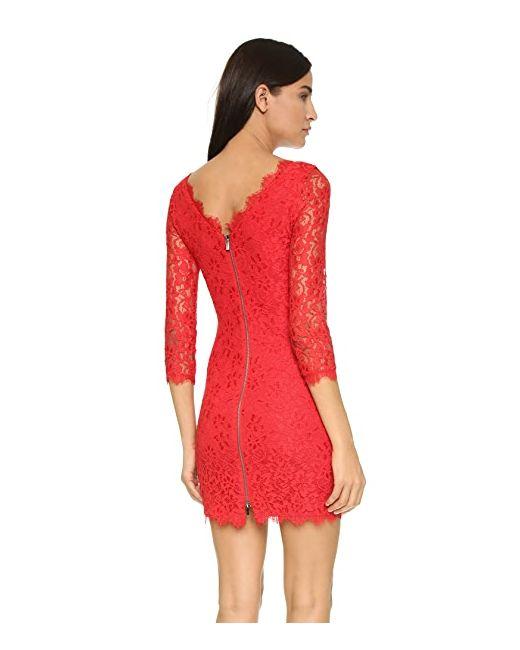 Кружевное Платье Zarita Diane Von Furstenberg                                                                                                              Сушеный Томат цвет