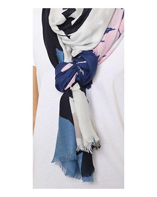 Шарф Grace С Цветочным Узором Diane Von Furstenberg                                                                                                              Большой Шарф Из Денима С Цветочным Рисунком цвет