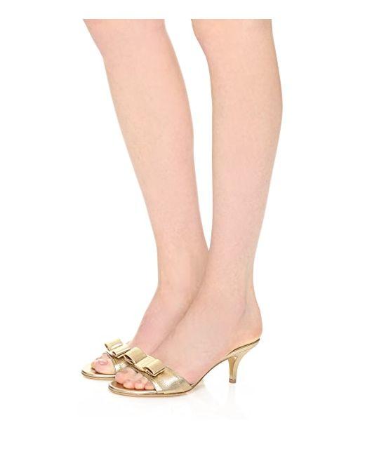 Туфли На Каблуке Glory Salvatore Ferragamo                                                                                                              Меконг цвет