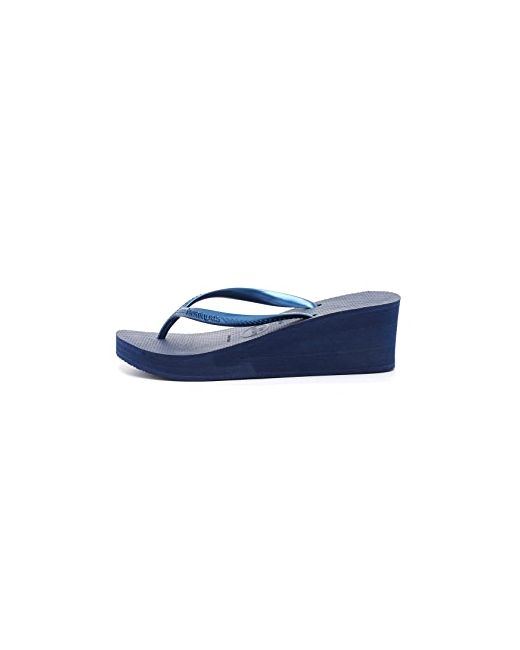 Сандалии High Fashion На Танкетке Havaianas                                                                                                              синий цвет