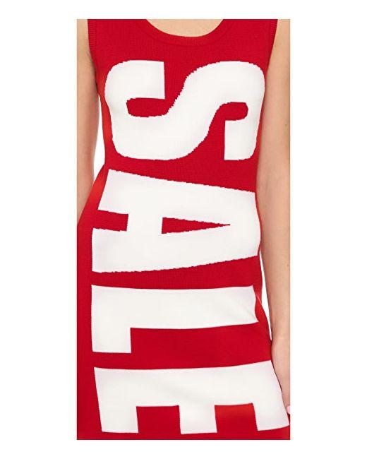 Платье Без Рукавов Moschino                                                                                                              красный цвет