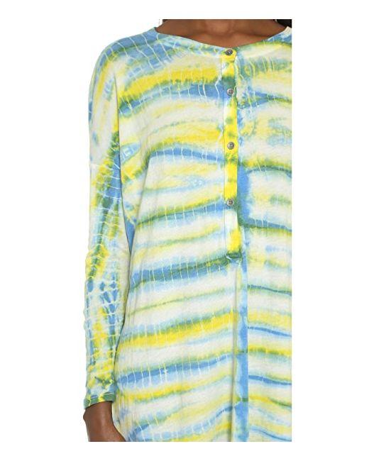 Комбинированное Платье С Передней Застежкой И Длинными Raquel Allegra                                                                                                              голубой цвет