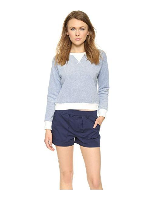 Пуловер Из Махрового Трикотажа Solid & Striped                                                                                                              голубой цвет