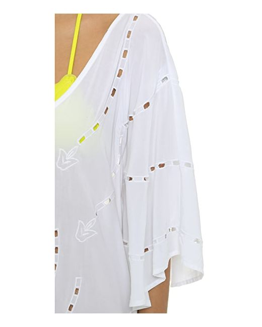Восточный Халат С Вышивкой И V-Образным Вырезом Vix Swimwear                                                                                                              белый цвет