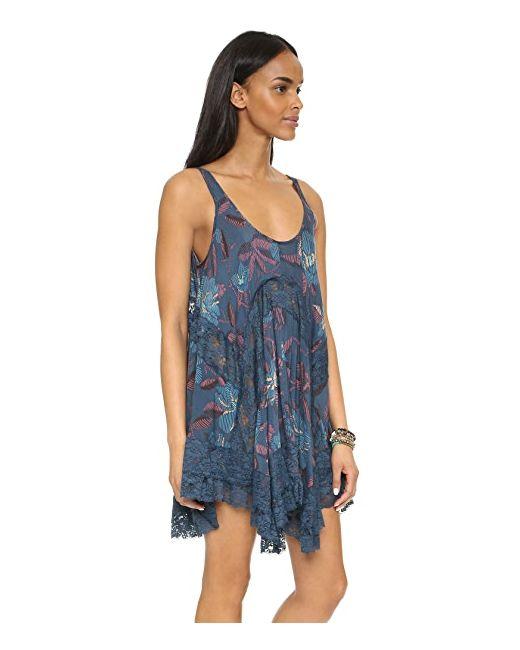 Платье-Комбинация She Swings Free People                                                                                                              синий цвет
