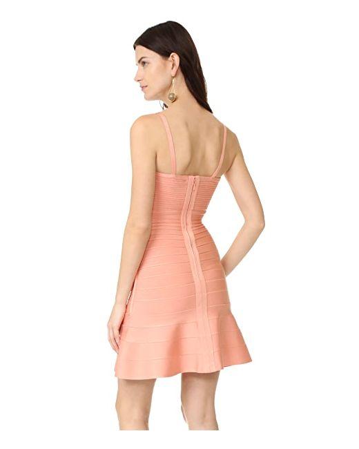 Платье Без Рукавов Hervé Léger                                                                                                              розовый цвет