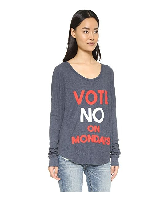 No On Mondays Wildfox                                                                                                              серый цвет