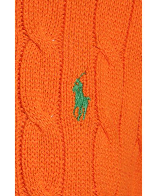 Пуловер Polo Ralph Lauren                                                                                                              оранжевый цвет