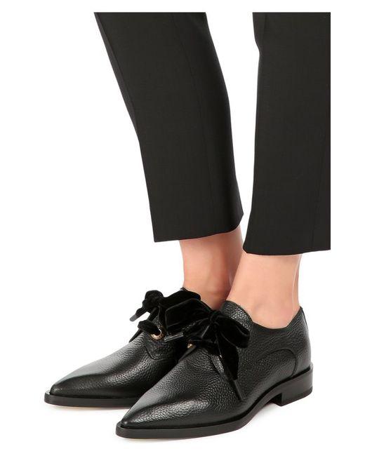 Кожаные Ботинки С Зауженным Мысом Lanvin                                                                                                              чёрный цвет