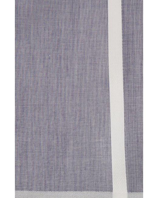 Хлопковый Платок В Клетку Simonnot-Godard                                                                                                              синий цвет
