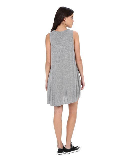 Sucker Punch 2 Dress Heather Womens Dress Rvca                                                                                                              серый цвет