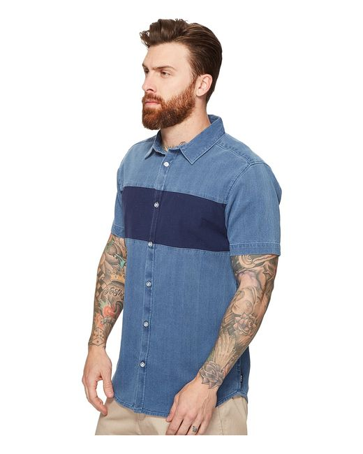 Thatll Do Mix Short Sleeve Woven Washed Rvca                                                                                                              Navy цвет