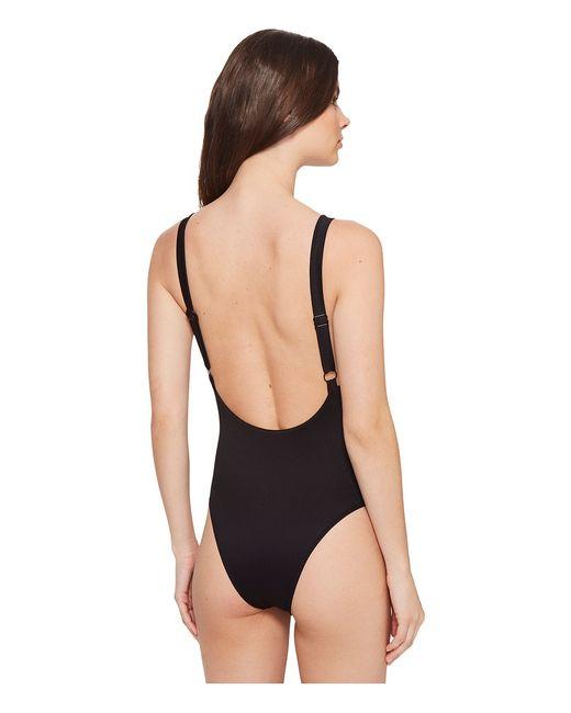 Coast Side Ribbed One-Piece Womens Swimsuits One Rvca                                                                                                              чёрный цвет