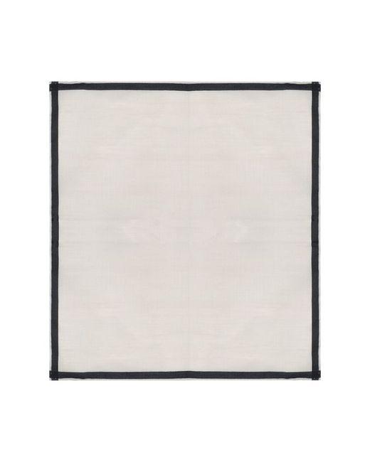 Хлопковый Носовой Платок С Контрастным Кантом Simonnot-Godard                                                                                                              бежевый цвет
