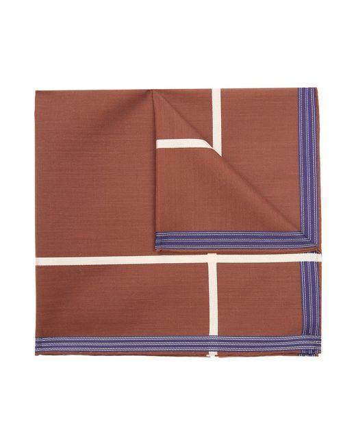 Хлопковый Носовой Платок В Клетку Simonnot-Godard                                                                                                              коричневый цвет