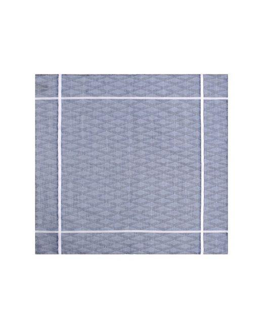 Хлопковый Платок С Узором И Контрастным Кантом Simonnot-Godard                                                                                                              голубой цвет