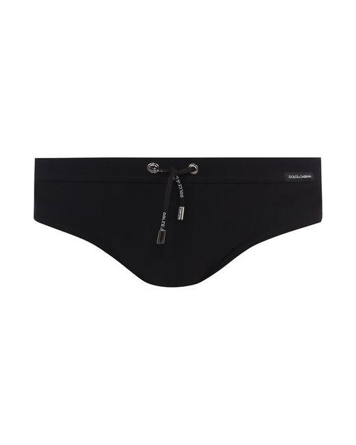 b353f5b7195f5 Мужские Чёрные Плавки С Поясом На Кулиске Dolce & Gabbana 2568295