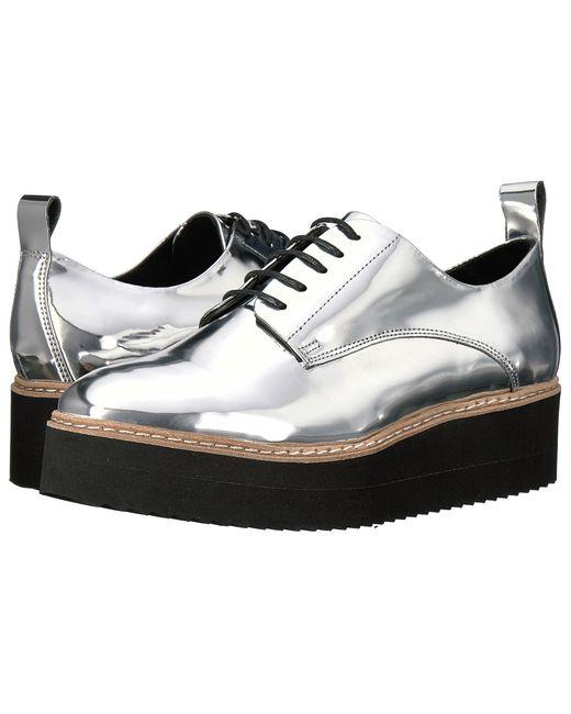 Shellys London   Серебристый Teivis Platform Oxford Womens Shoes