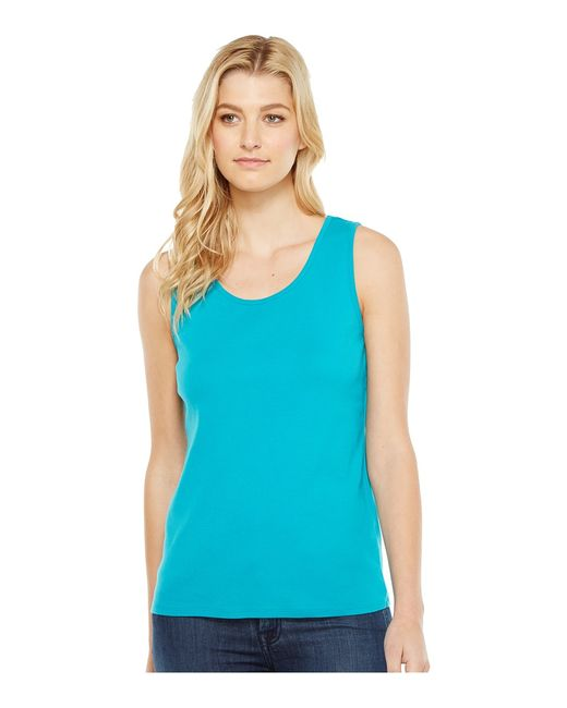Pendleton | Голубой Rib Tank Top Tile Womens Sleeveless