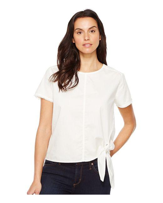 Calvin Klein Jeans | Белый Poplin Tie Tee Wash Womens T
