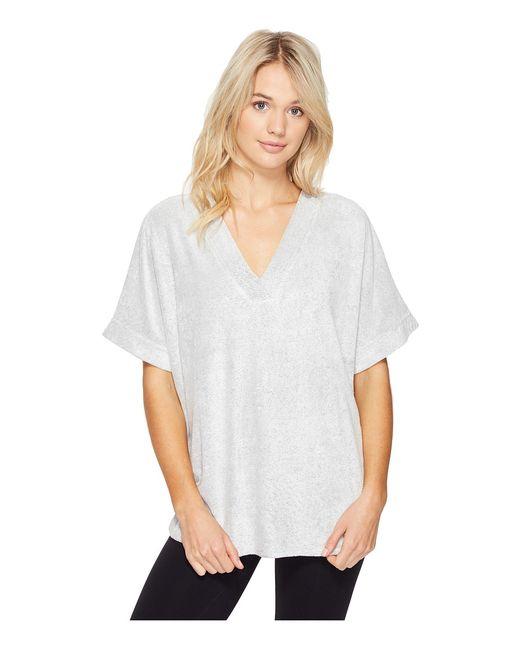 N by Natori | Серый Terry Lounge Top Heather Womens Pajama