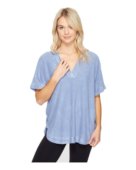 N by Natori | Голубой Terry Lounge Top Smokey Womens Pajama