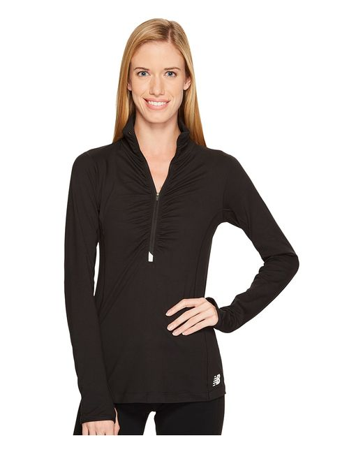New Balance | Чёрный In Transit 1/2 Zip Womens Clothing