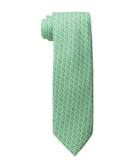 Vineyard Vines   Зелёный Sand Dollar Printed Tie Gecko Ties