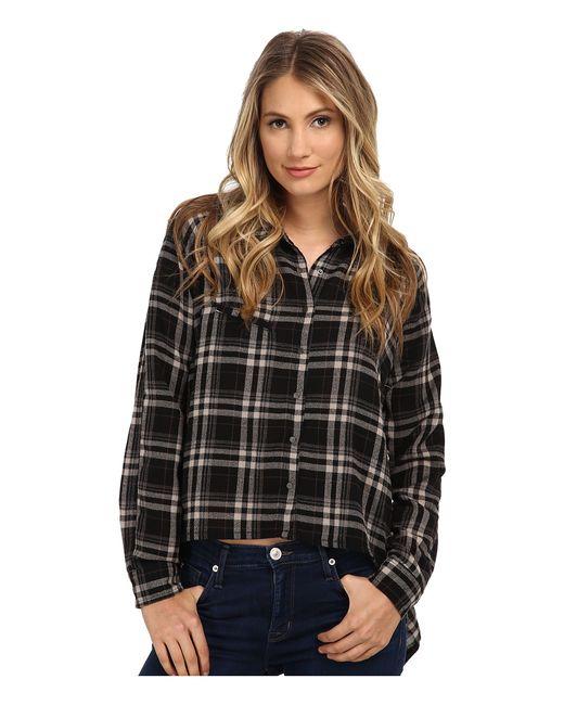 BLANKNYC   Чёрный Plaid Asymmetrical Shirt Womens Clothing