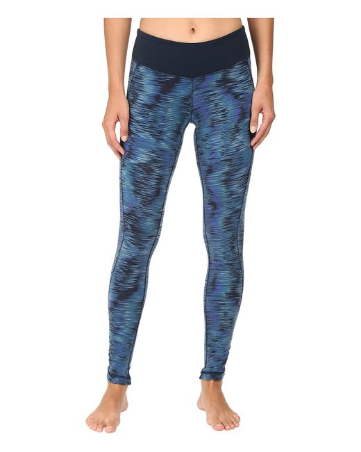 New Balance | Голубой Premium Performance Tight Print Pants Galaxy Tech