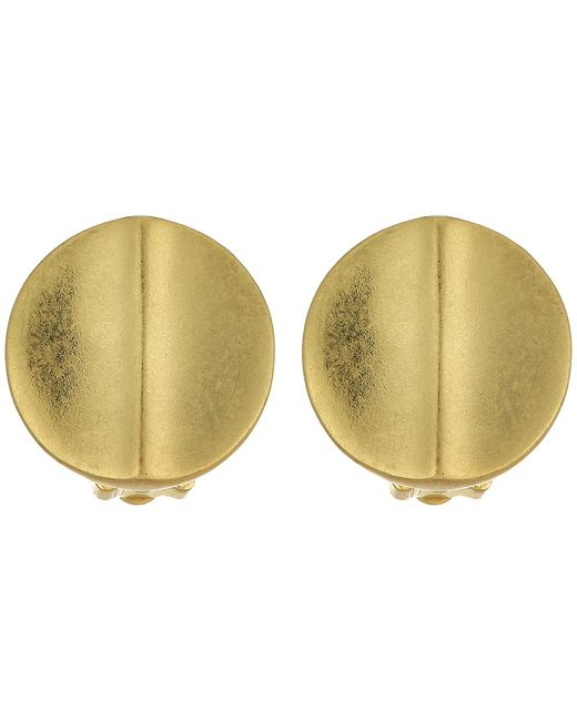 Lauren Ralph Lauren | Золотой Round Metal Disk Button Earrings Earring