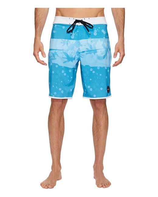 Rvca | Голубой Chopped Trunk Jay Mens Swimwear