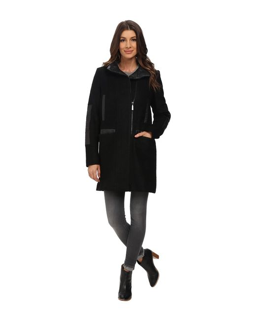 Vince Camuto   Чёрный Stand Collar Wool J8271 Womens Sweater