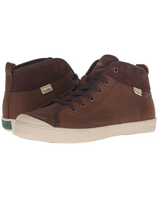Simple   Коричневый Waltham Dark Tan Leather Mens Shoes