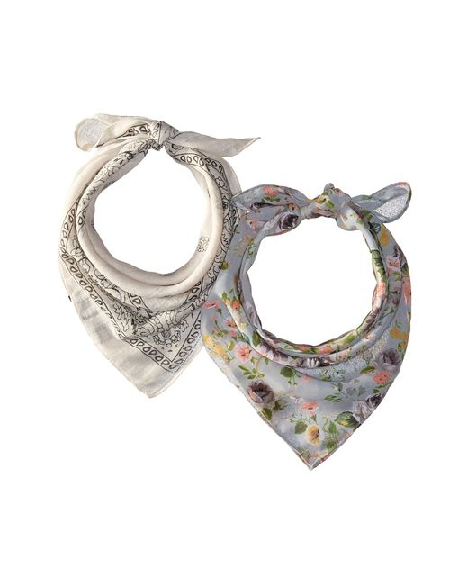 STEVE MADDEN | Neutral Dolce Flora Light Contrast Bandana Set Scarves