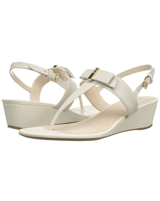 Cole Haan | Серый Elsie Hardware Sandal Ii Ivory Leather Womens