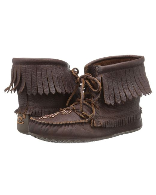 Manitobah Mukluks | Коричневый Harvester Moccasin Grain Cocoa Womens Lace-Up Boots