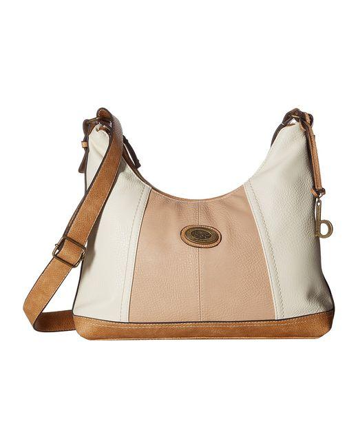 b.o.c. | Белый B.O.C. Coshocton Crobo Bone/Stone/Saddle Cross Body Handbags