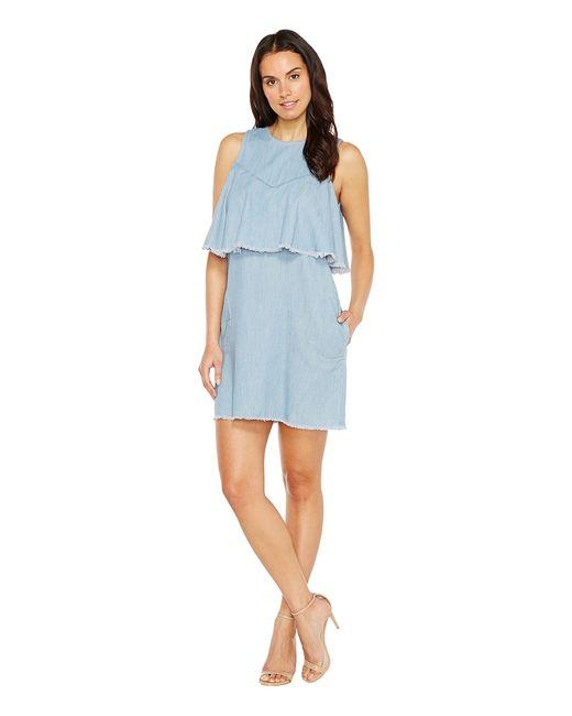 BLANKNYC | Голубой Raw Edge Ruffle Dress In Frill Seeker