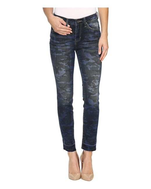Jag Jeans | Multi Rochelle Slim Ankle Jeans In Camo Denim
