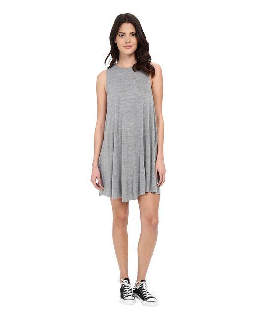 Rvca | Серый Sucker Punch 2 Dress Heather Womens Dress