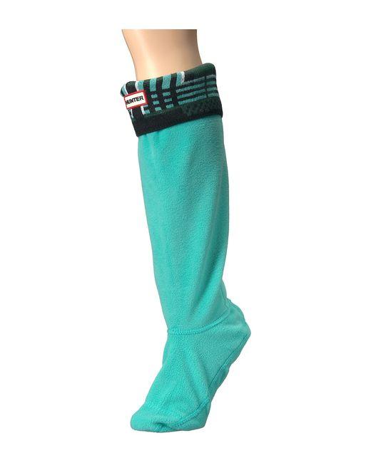 Hunter | Зелёный Original Tall Boot Sock Garter Cuff Tartan