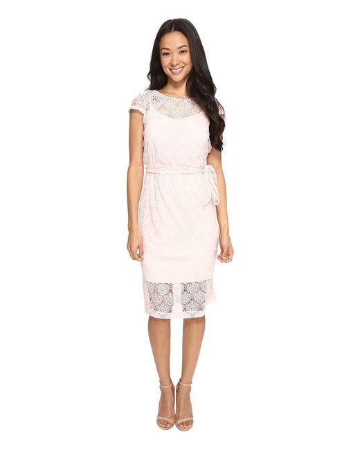 Jessica Simpson | Розовый Scalloped Lace Dress Blush Womens Dress