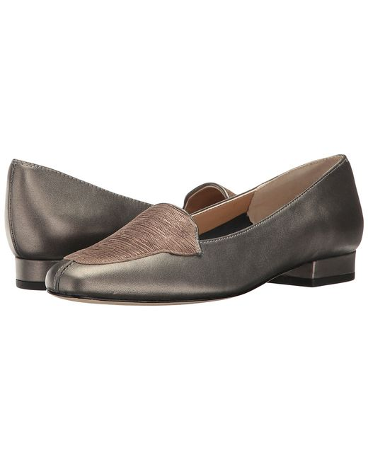 Vaneli | Pewter Fayette Pearl Nappa/Charm Womens Flat Shoes