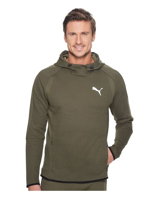 Puma | Зелёный Evostripe Ultimate Hoodie Olive Night Mens Sweatshirt