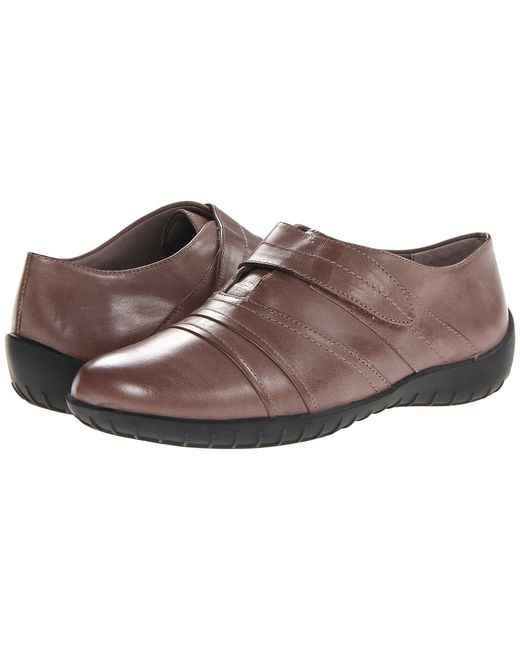Walking Cradles | Tan Cone Taupe Waxy Soft Leather Womens Shoes